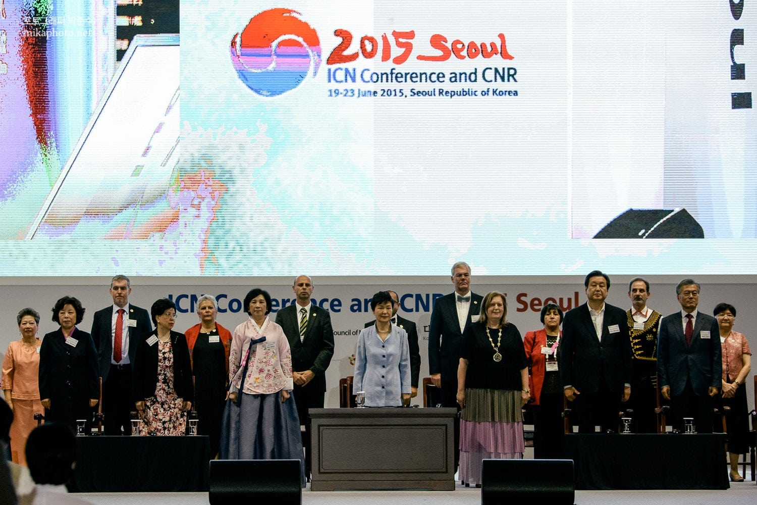 South Korean president Park Geun-hye joins the opening ceremony of ICN 2015.